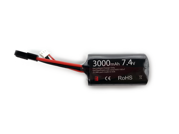 3000mAh 7.4v Brick Tamiya - Dealer