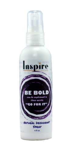 Be Bold Natural Deodorant Spray