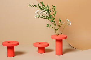 Olivia Aspinall Studio + Ornamental Grace | Pillar Vase Orange