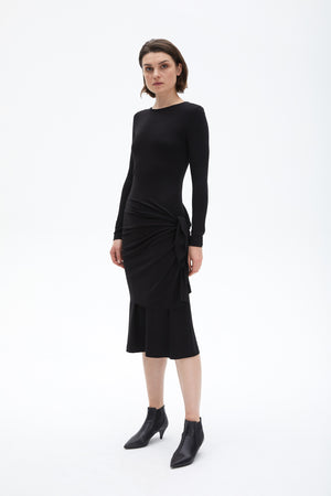 Chruse dress black