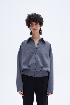 Calde blouse grey