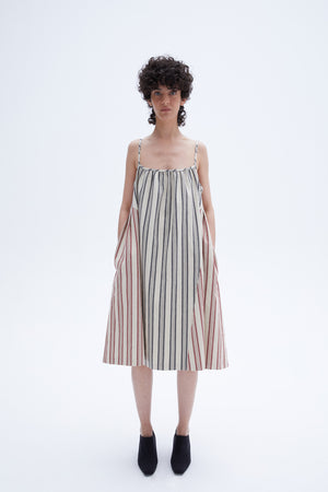 Depro dress mix stripe