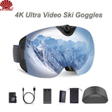 4K Ultra Video Ski-Sunglass Goggles Camera with Super 1080P 60fps Video Recording UV400 Protection