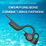 Bone Conduction Bluetooth 4.2 Headset Stereo Waterproof IPX8 Sports Swimming Running Wireless Headphone Mic Handsfree Headset