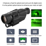 Infrared Digital Video Monocular Camera with Night Vision Telescope 5X Optical & 8X Digital Zoom