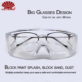 Personal Safety Protective Glasses Goggles to Provide WrapAround Eye Protection from Injuries of Home Work and Outdoor Sports