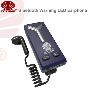 Public Security Personnel Shoulder LED Lamp with Bluetooth Earphone for Night Ultra Bright Warning Type C Chargingning