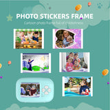 Smart FHD 1080P Instant SnapPrint Kids Digital AV Camera with 20M Photo Pixels Cartoon Photo Frame