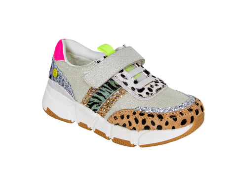 Sneaker mit Animalprint DEMING