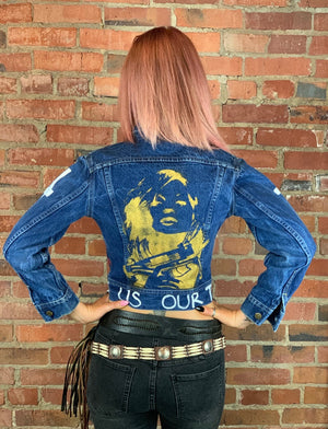 FORGIVEN Custom Hand Painted Vintage Lee Denim Jacket - Wild Ones