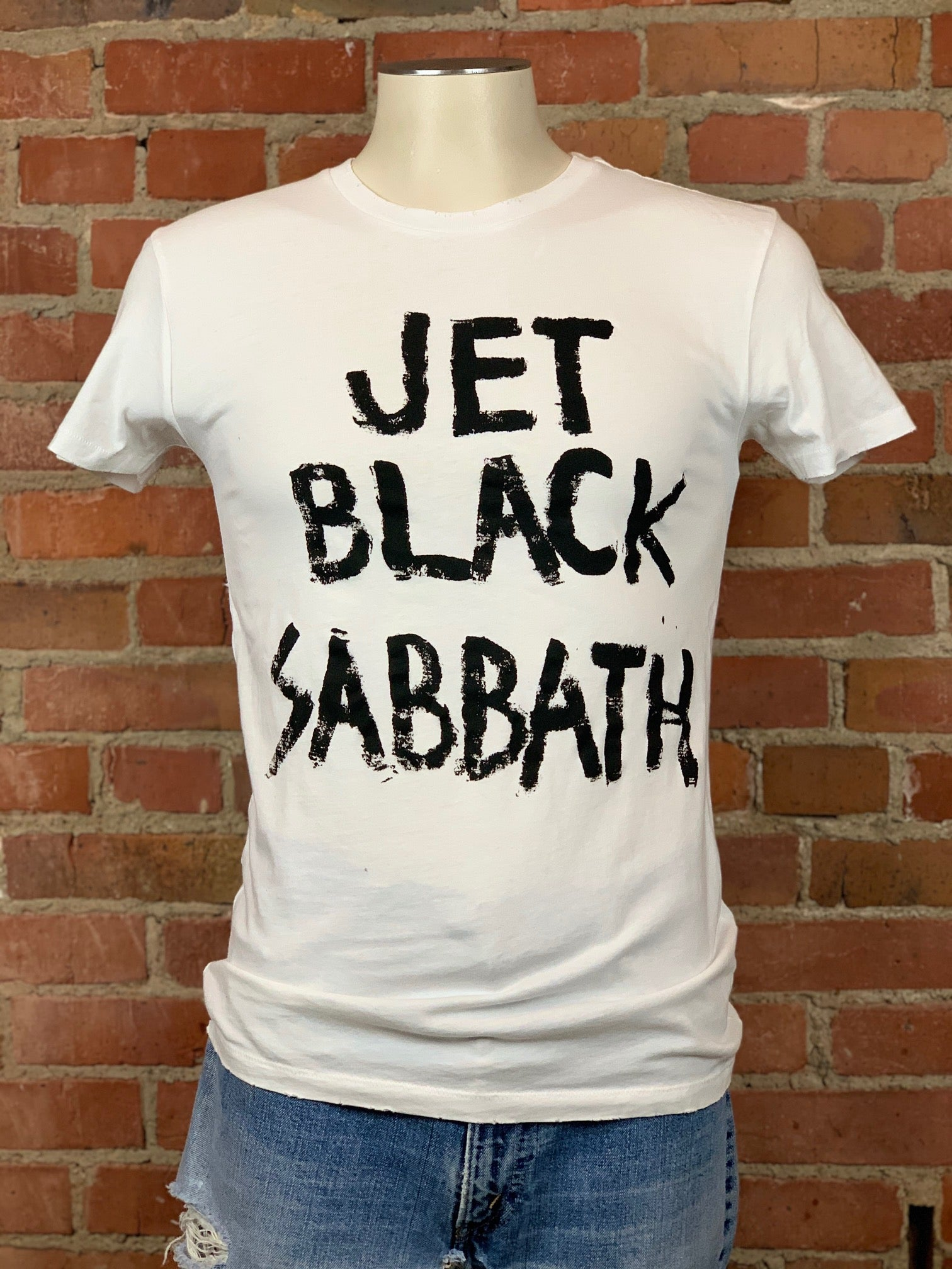 Jet Black Sabbath Unisex T-shirt in White - Wild Ones