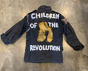 Marc Bolan T-Rex Black Vintage Field Jacket - Wild Ones