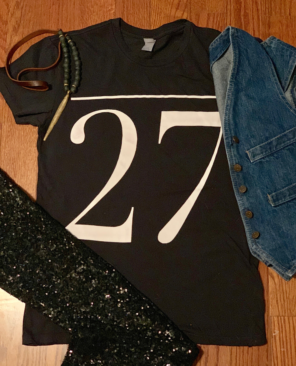 The 27 T-Shirt in Vintage Black - Wild Ones