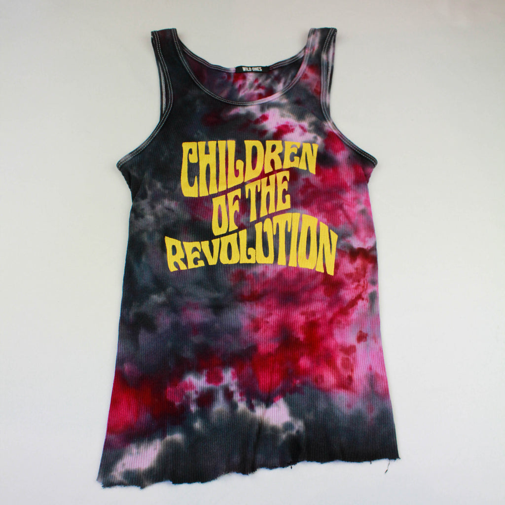 Children of the Revolution Tank Top Metallic Gold - Wild Ones