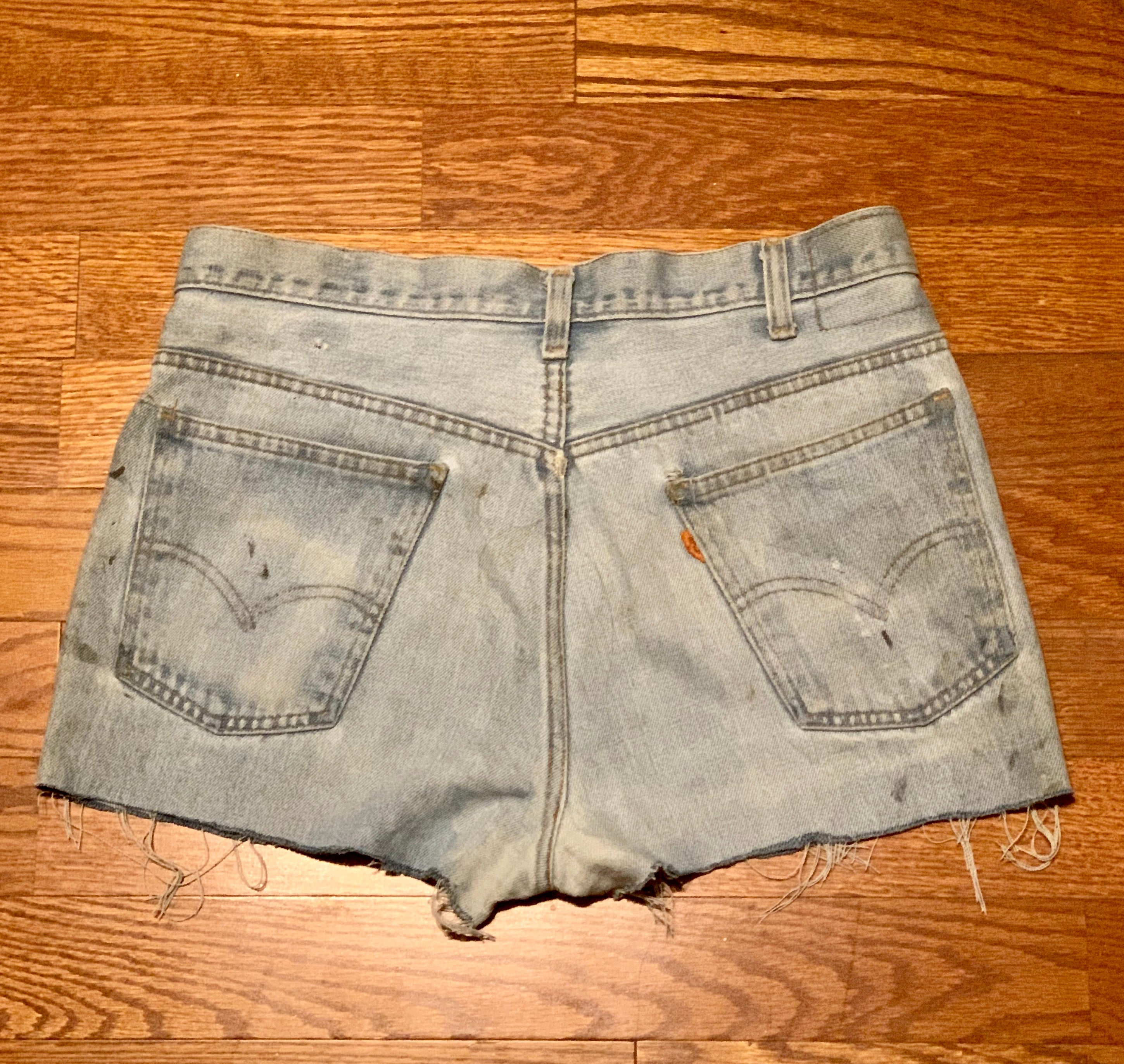 *SOLD * SEX PISTOLS 1977 Vintage Levi's Cut Off Shorts - Wild Ones