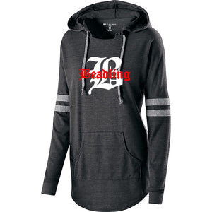 "Women's light-weight Hooded Pullover featuring the ""B with Beadling"" logo"
