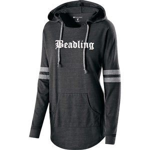 "Women's light-weight Hooded Pullover featuring the ""Beadling"" logo"
