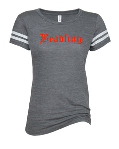 "Ladies Vintage Tri-Blend Tee featuring the ""Beadling"" logo"