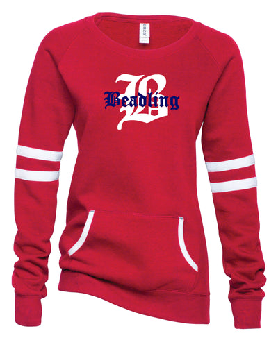 Ladies Varsity Fleece Crewneck Pullover featuring the