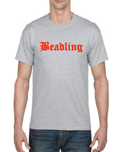 "Load image into Gallery viewer, Adult 50/50 Short Sleeve T-Shirt featuring the ""Beadling"" logo"