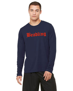 "Men's Performance Long Sleeve T-Shirt featuring the ""Beadling"" logo"
