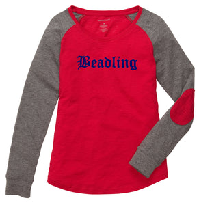 "Ladies Preppy Patch T-Shirt featuring the ""Beadling"" logo"