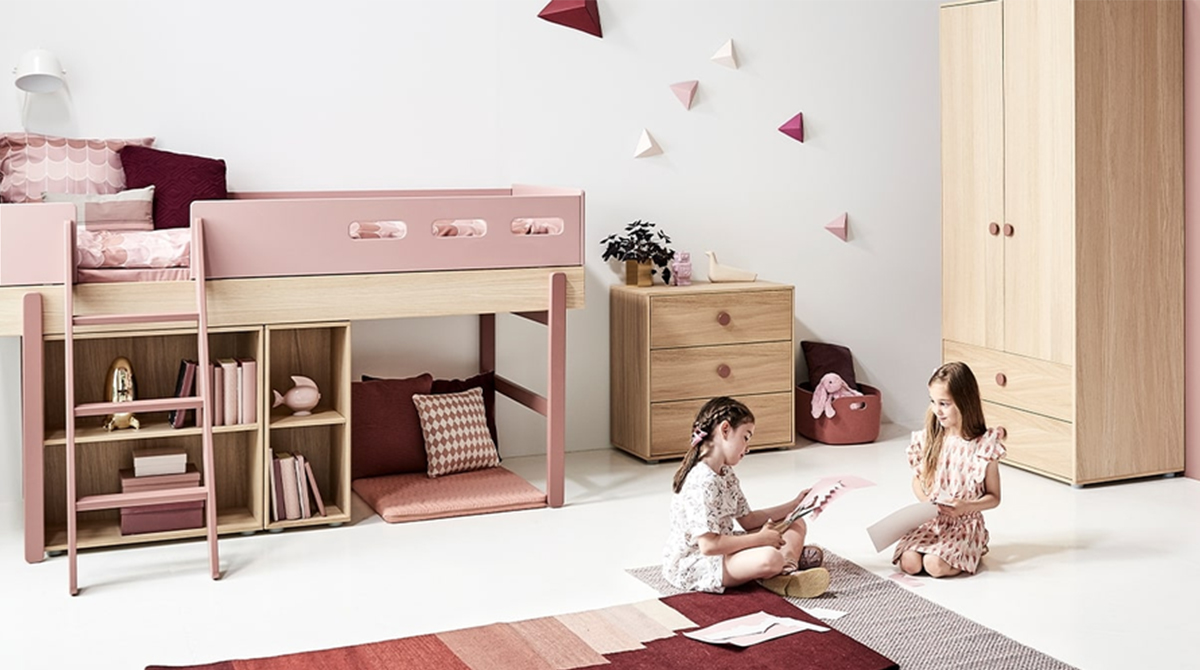 POPSICLE is a complete kids room and interior concept consisting of a collection of beds, storage solutions, desks and textiles.