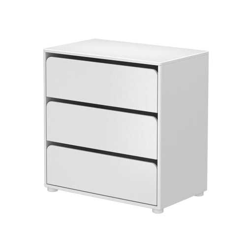 Cabby - Chest with 3 drawers - White with partitions