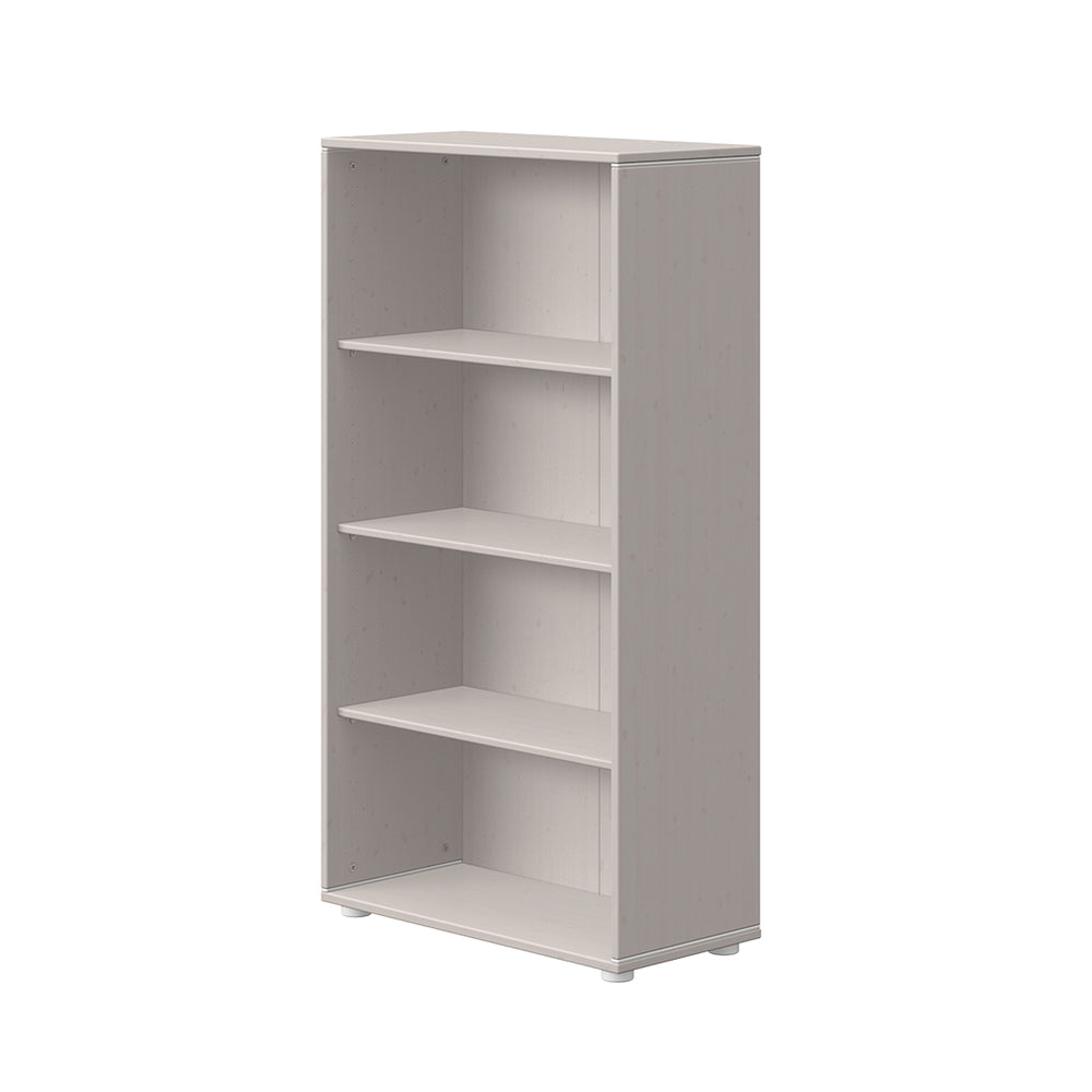 Classic - Bookcase with 3 shelves - Grey washed - Kids Furniture | Flexa USA