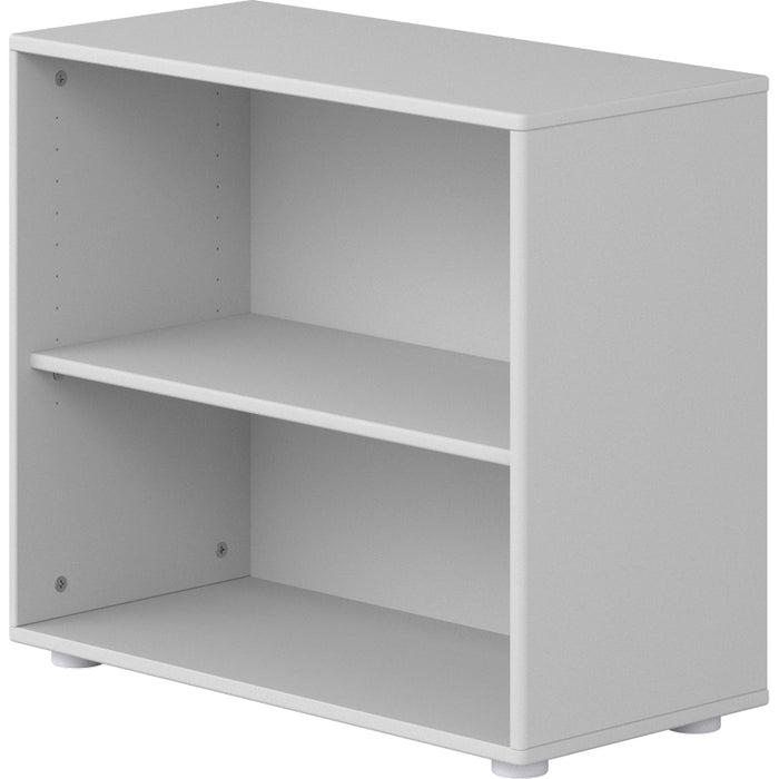 Cabby - Bookcase with 1 shelf and adjustable feet - White / White - Kids Furniture | Flexa USA
