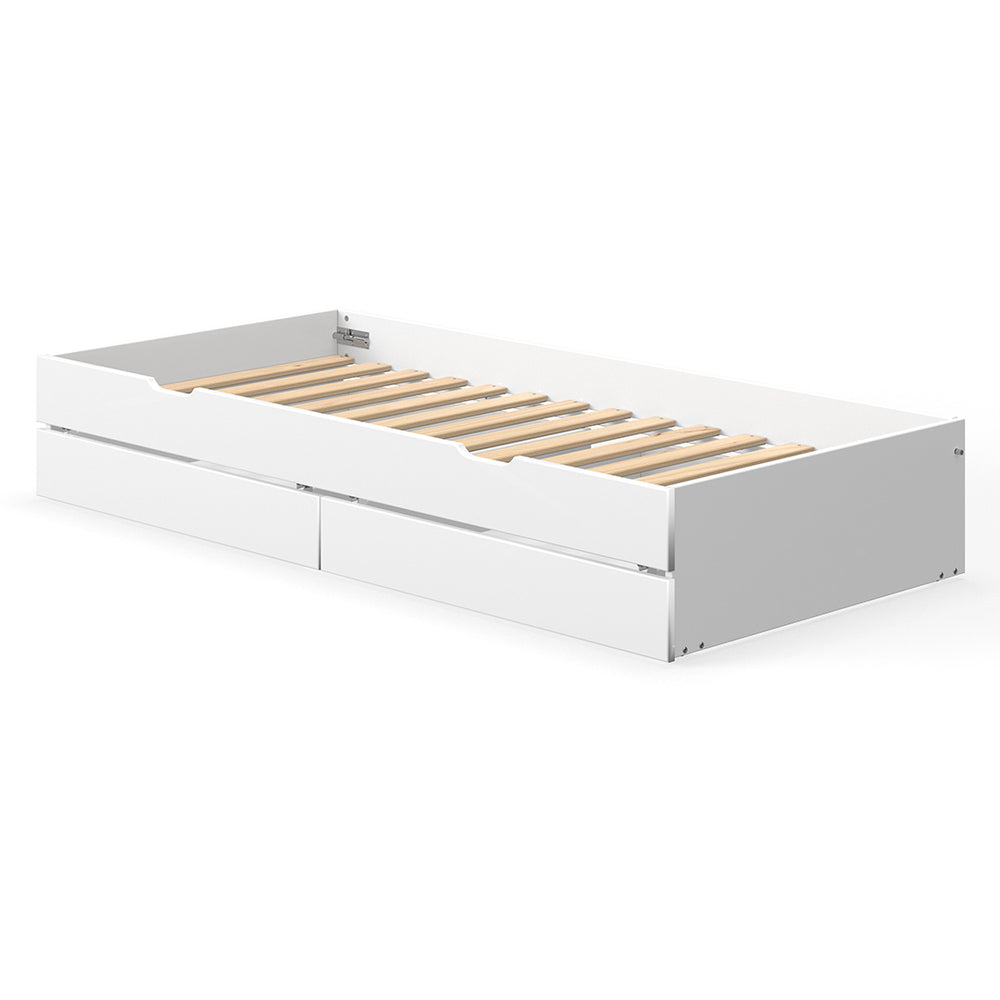 White - Pull Out Guest Bed - Kids Furniture | Flexa USA