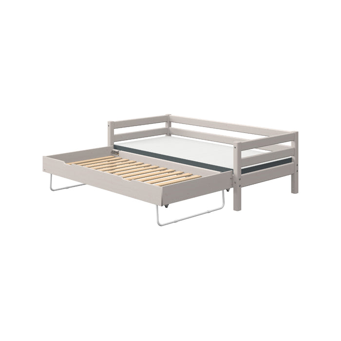 Classic - Single bed with pull out bed - Grey Washed - Kids Furniture | Flexa USA