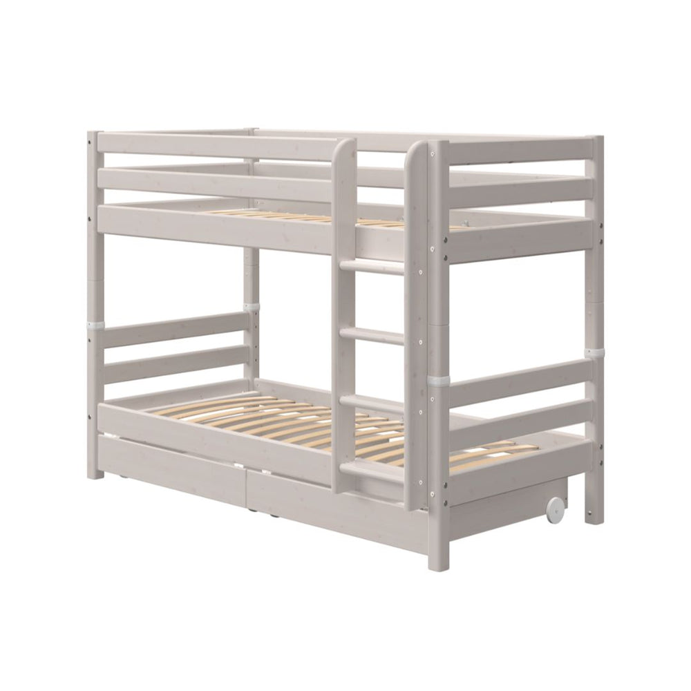 Classic - Bunk bed with Drawers - Grey Washed - Kids Furniture | Flexa USA