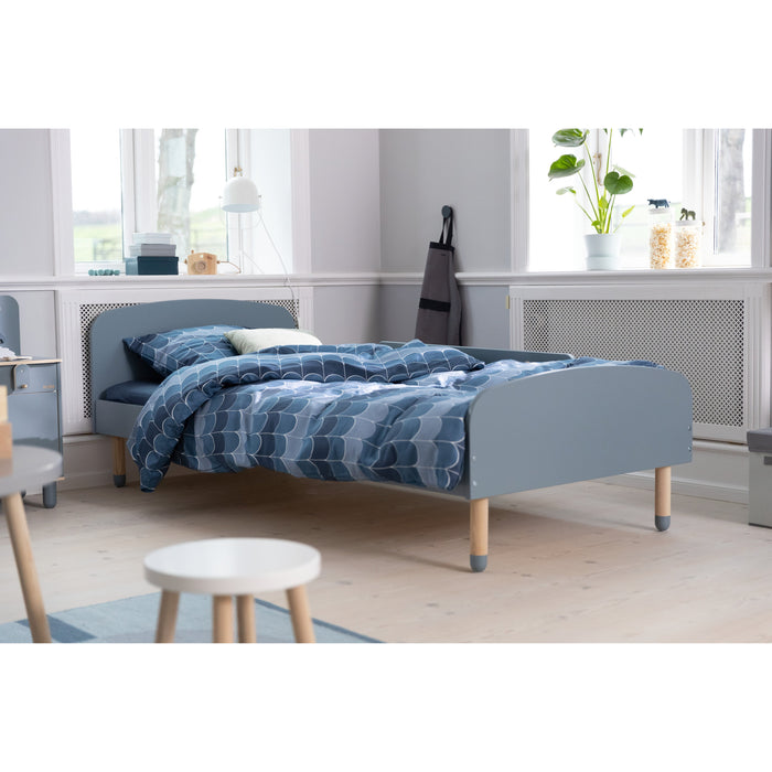 DOTS - US Twin Single bed with Safety Rail - Urban grey