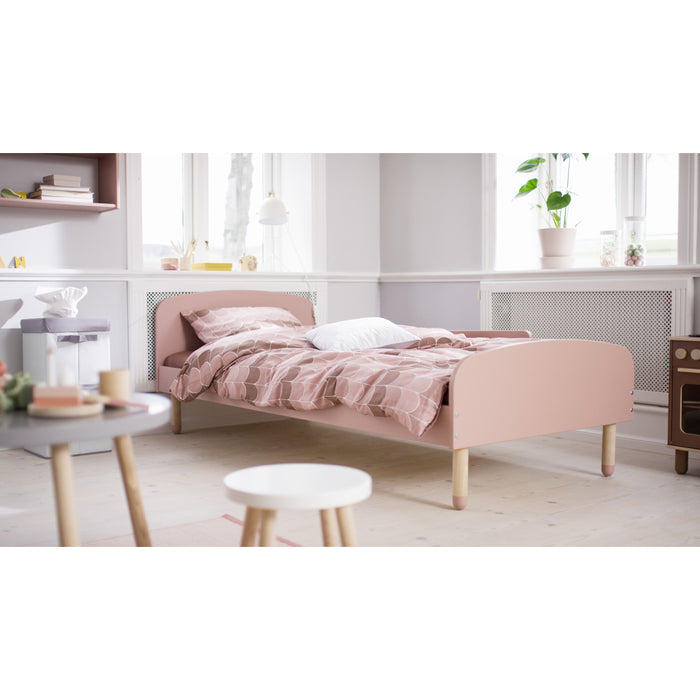 DOTS - US Twin Single bed with Safety Rail - Light Rose