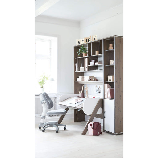 Study - Woody desk - Terra/Full White - Kids Furniture | Flexa USA