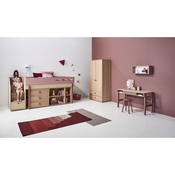 Popsicle - Desk drawers - Oak/Cherry - Kids Furniture | Flexa USA