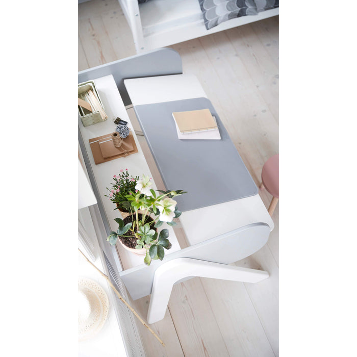 Study - Woody desk - Full White/ Urban Grey - Kids Furniture | Flexa USA