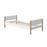Nor - Single Bed - Oak/White - Kids Furniture | Flexa USA