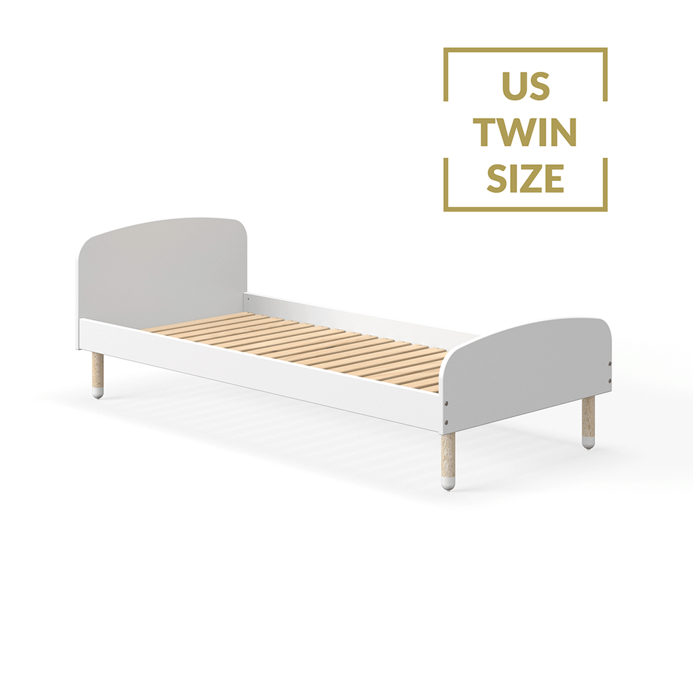 Play - US Twin Single bed - White - Kids Furniture | Flexa USA