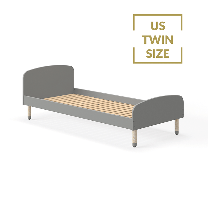Play - US Twin Single bed - Urban Grey - Kids Furniture | Flexa USA