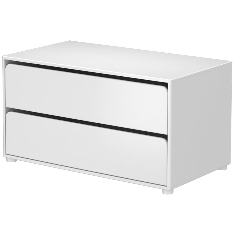 Cabby - Chest with 2 drawers (module) - White - Kids Furniture | Flexa USA