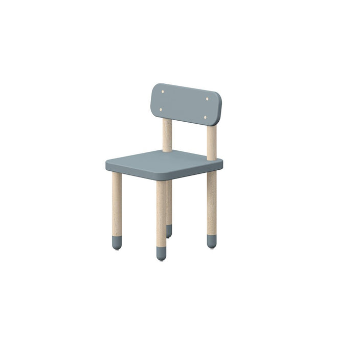 Play - Chair with backrest - Light Blue - Kids Furniture | Flexa USA