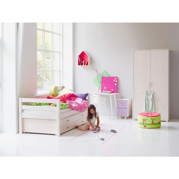 Classic - Chest with 1 drawer - Whitewashed - Kids Furniture | Flexa USA