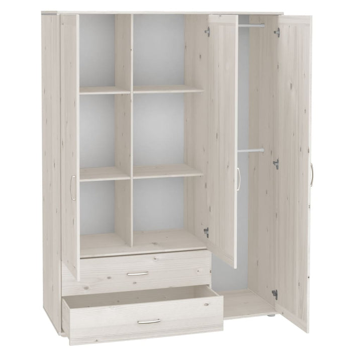 Classic - Extra high wardrobe - White Washed / White Wash - Kids Furniture | Flexa USA