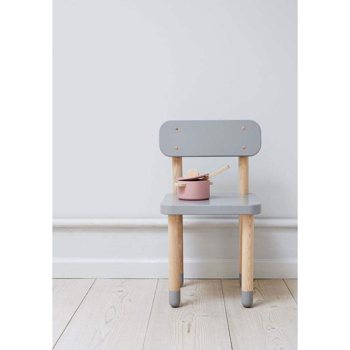 DOTS - Chair with backrest - White