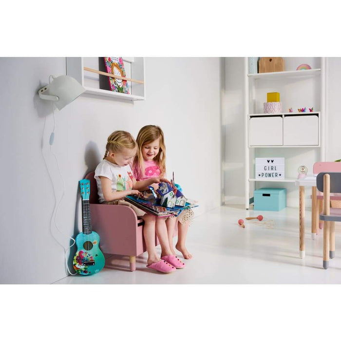Play - Bench - White - Kids Furniture | Flexa USA