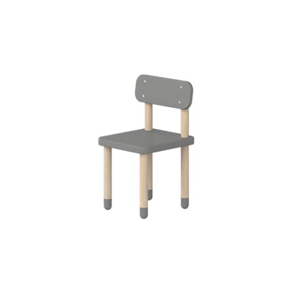 Play - Chair with backrest - Urban Grey - Kids Furniture | Flexa USA