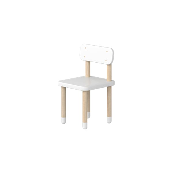 DOTS - Chair with backrest - White - Kids Furniture | Flexa USA