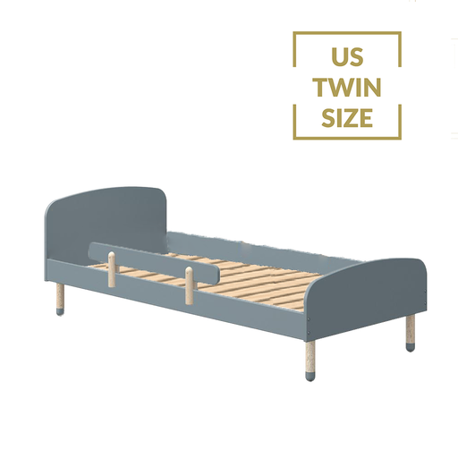Play - US Twin Single bed with Safety Rail - Light Blue